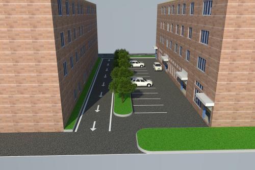 厂区马路,雨污水管道,绿化,停车位
